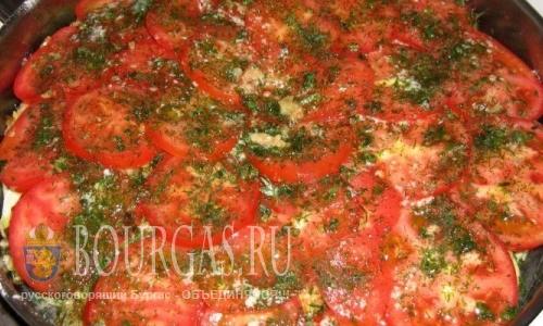 Болгарские блюда - кабачки с помидорами