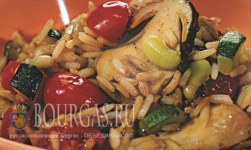 Болгарские блюда - пилав с овощами