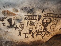Рисунки в пещере Магура