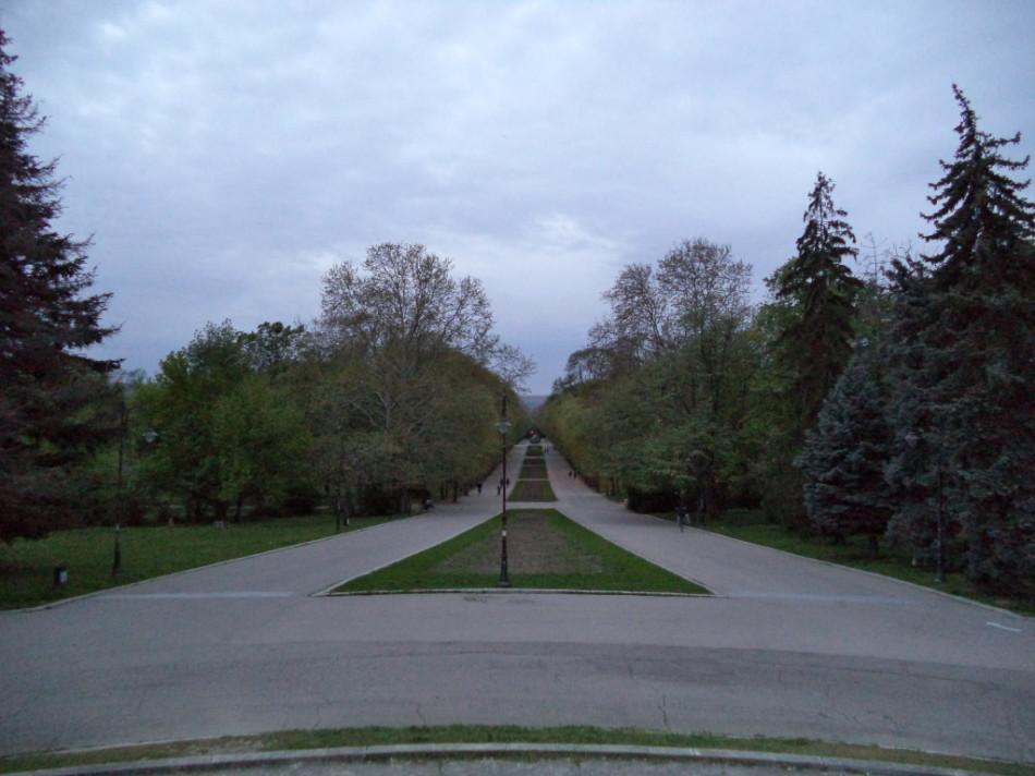 Вид сверху на Приморский Парк в Варне