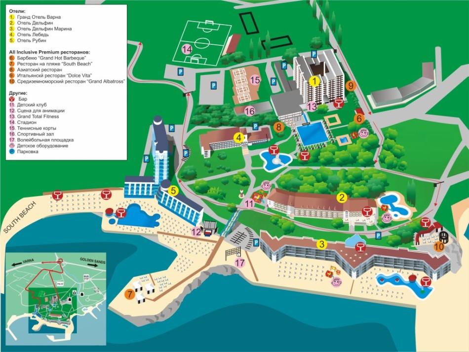 Гранд Отель Варна карта
