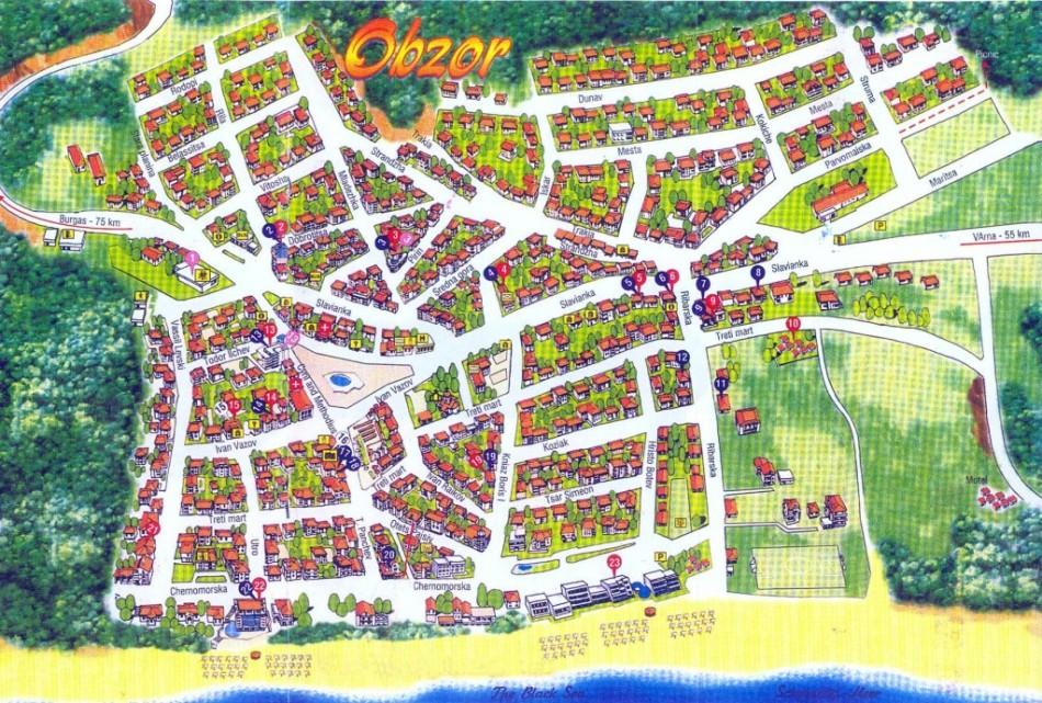 город Обзор карта