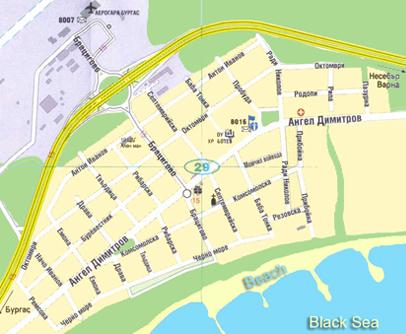 сарафово карта