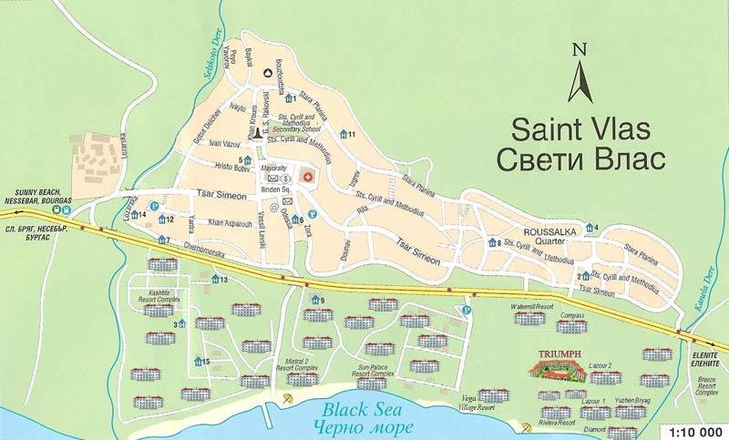 город святой влас болгария карта