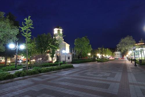 Город Поморие ночью