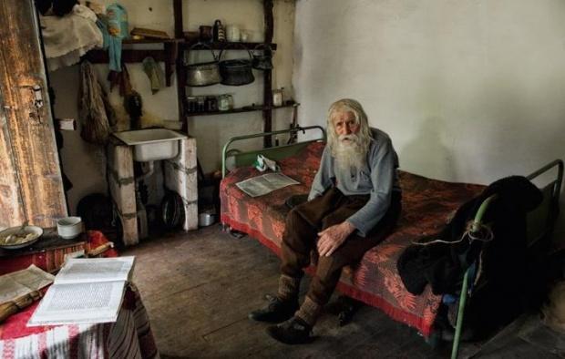Дедушка Добре раньше спал на полу