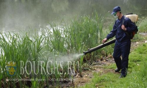 борьба с комаром в Бургасе