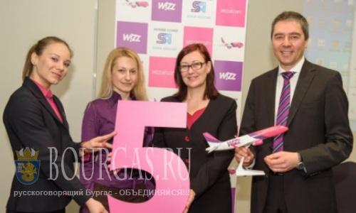 Лоу-кост авиакомпания Wizz Air увеличивает свое присутствие в Болгарии