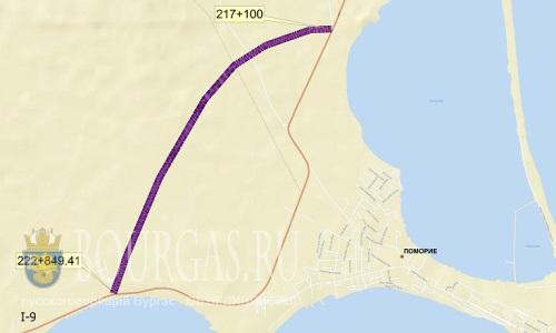 Объездная дорога в районе Поморие