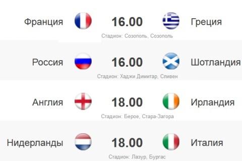 ЕВРО-2015, 6-й игровой день