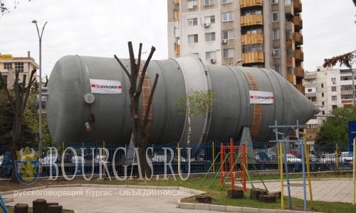 Перевозка модуля нового НПЗ по улицам Бургаса