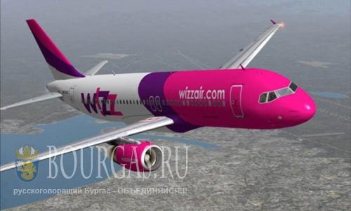 Wizz Air увеличивает количество маршрутов из Болгарии