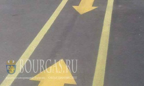 Разметка велодорожек в Бургасе не исправлена