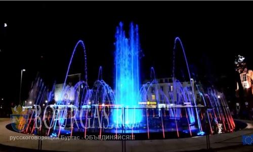 В Варне открыли цвето-музыкальный фонтан