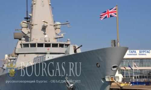 Порт Бургас - корабль НАТО на рейде