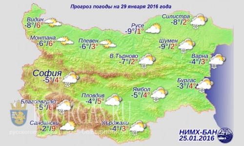 Болгария погода - 26 января 2016 года