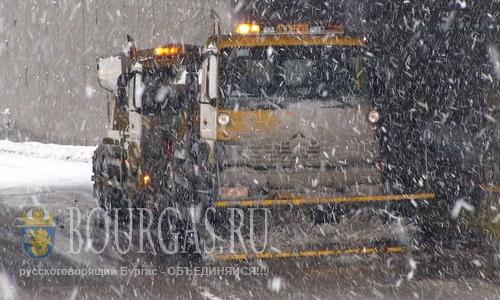 Болгария погода - наснежило Желтый код