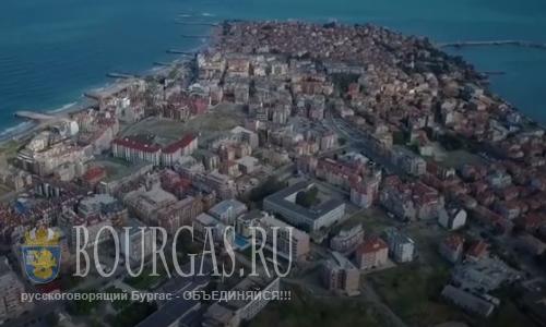 Поморие Болгария - с высоты птичьего полета
