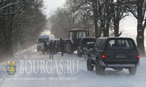 зимние аварии на участке дороги Бургас - Солнечный Берег
