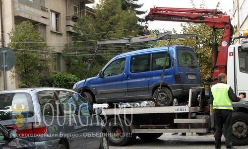 Призраки на парковках авто в Софии Болгарии