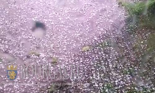 Необычайно крупный град атаковал Козлодуй
