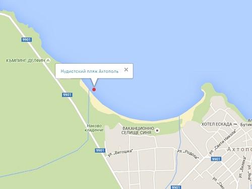 Нудистский пляж Ахтополь