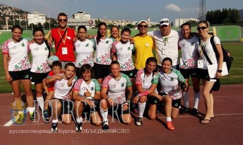 25 июля 2016 года, Болгария, женская сборная Болгарии по регби-7 8-я Чемпионате Европы-Конференция 1