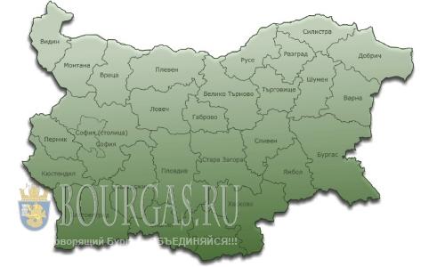 административная карта Болгарии