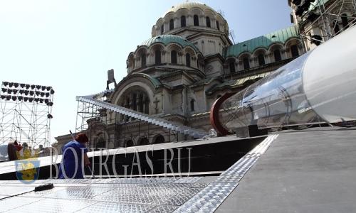 Болгария на фото - 15 июля 2016 года, София сцена оперы «Набукко»