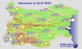 Болгария погода 22 июля 2016 года