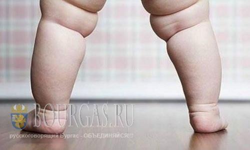 Годовалые дети в Болгарии имеют избыточный вес