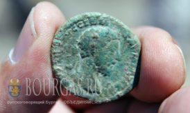 медная монеты с изображением императора Марка Аврелия