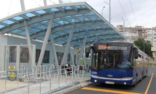 муниципальный транспортв Бургасе