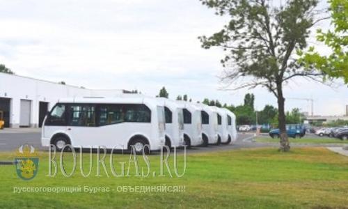 На улицах Бругаса появились комфортабельные микроавтобусы