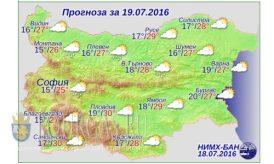 Погода Болгария 19 июля 2016 года
