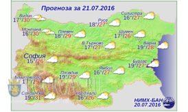 Погода Болгария 21 июля 2016 года