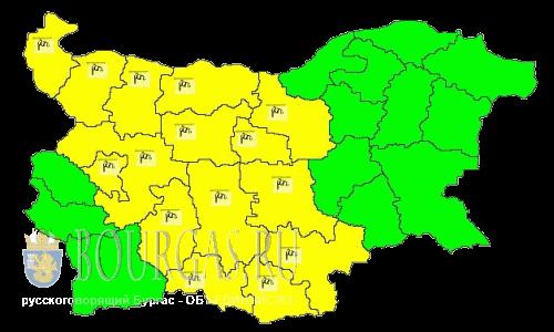 Сильные ветры надули в Болгарии Желтый код