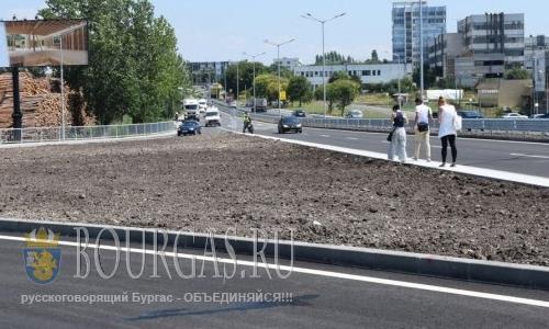 В Бургасе открыли новую транспортную развязку, перекрестки в Бургасе