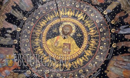 11 августа 2016 года, Болгария, Бачковский монастырь - изображение Иисуса Христа, XVII век