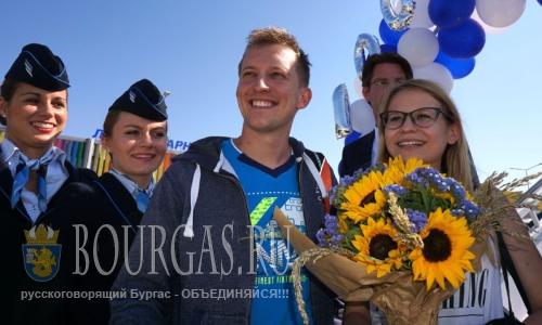 11 августа 2016 года, Болгария, Варна, миллионный пассажир - польский турист Михала Масне