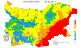 22 августа 2016 года Пожарная опасность в Болгарии