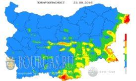 23 августа 2016 года Пожарная опасность в Болгарии