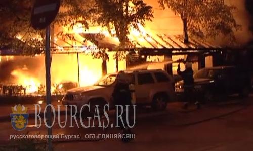 23 августа 2016 года, Варна, в центра города сгорел ресторан Палавия Джак