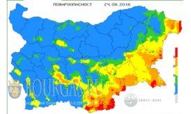 24 августа 2016 года Пожарная опасность в Болгарии