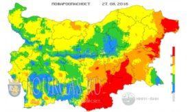 27 августа 2016 года Пожарная опасность в Болгарии