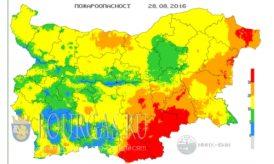 28 августа 2016 года Пожарная опасность в Болгарии