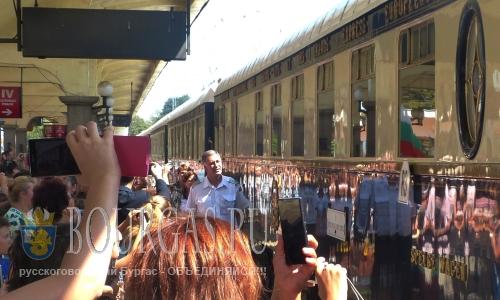 30 августа 2016 года, Русе, легендарного поезд «Восточный экспресс» идущий из Парижа в Стамбул