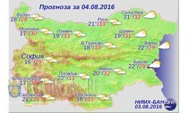 4 августа 2016 года погода в Болгарии