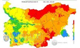 6 августа 2016 года Болгария пожароопасность