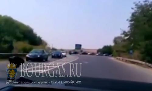 8 августа 2016 года, Болгария, Бургас, пробки на дорогах области